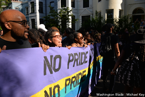 D.C. Pride protest, gay news, Washington Blade